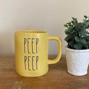 Rae Dunn PEEP PEEP yellow mug